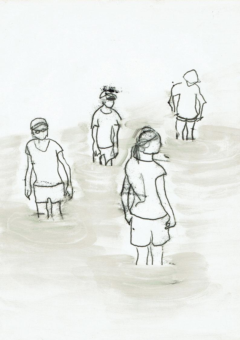 Gräben umspringen (im Fluss)